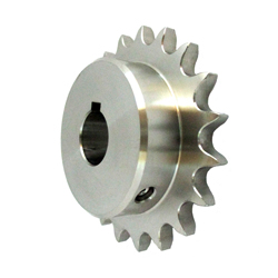 Stainless Steel Sprocket Model 50B, Semi-F Series, Shaft Hole Machining Completed (New JIS Key)