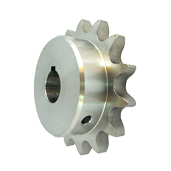 Stainless Steel Sprocket Model 80B, Semi-F Series, Shaft Hole Machining Completed (New JIS Key)
