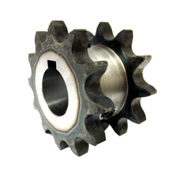 35SD Single Double Sprocket, Semi-F Series, Shaft Hole Machining Completed (New JIS Key)