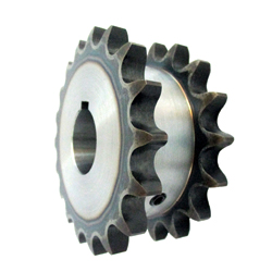 60SD Single Double Sprocket, Semi-F Series, Shaft Hole Machining Completed (New JIS Key)
