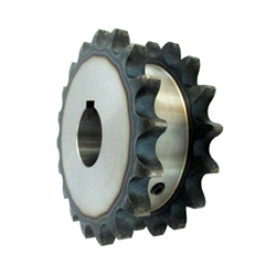 100SD Single Double Sprocket, Semi-F Series, Shaft Hole Machining Completed (New JIS Key)