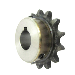 K35 sprocket old type B semi F series with machined shaft holes (New JIS key)