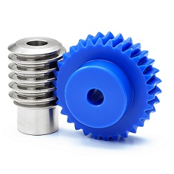 Worm And Worm Wheel m1 Blue (Polyacetal)