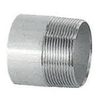 Stainless Steel Screw-In Pipe Fitting, Single Nipple [NS]