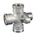 Auxiliary Material for Piping, Fitting, and Plumbing, Fitting for Water Supply Piping, Water Faucet Tee with Anchor