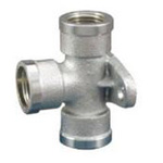 Auxiliary Material for Piping, Fitting, and Plumbing, Fitting for Water Supply Piping, Water Faucet Tees with Mounting Tab