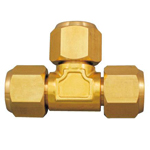 Copper Pipe Tee Fittings for Flared Copper Pipes, Refrigerant Type