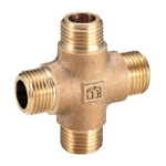 Auxiliary Material for Piping, Fitting, and Plumbing, Fitting for Water Supply Piping, Gunmetal Outer Threaded Cross