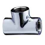 Auxiliary Material for Piping, Fitting, and Plumbing, Fitting for Water Supply Piping, Plated Fittings - Tees