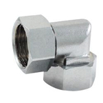Auxiliary Material for Piping, Fitting, and Plumbing, Fitting for Water Supply Piping, Plated Fittings - Elbow with Both End Nuts for Flexible Pipes (Smaller Curve)