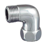 Auxiliary Material for Piping, Fitting, and Plumbing, Fitting for Water Supply Piping, Plated Fittings - Elbow with Cap Nut for Flexible Pipe - S2TLNM
