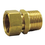 Auxiliary Material for Piping, Fitting, and Plumbing, Fitting for Water Supply Piping, Adapter with Cap Nut - Non-Plated