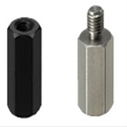 Small Hex Posts- One End Threaded