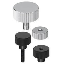 Knurled Knobs/Thick/L Dimension Standard