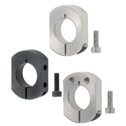 Shaft Collars/2-Flats/Cut Surface Mount Hole
