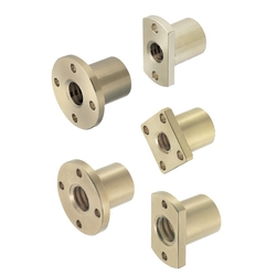 Nuts for Lead Screws/Compact/Round Flanged
