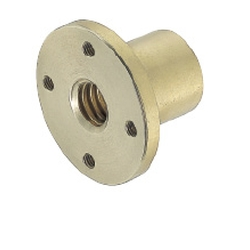 Nuts for Lead Screws/Round Flanged/Tapped Holes/Right-Hand Thread