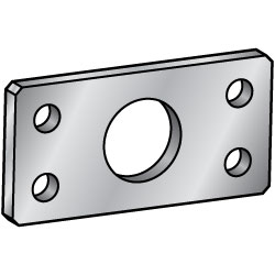 Flat Bar Mounting Plates/Brackets/Center Symmetrical Type