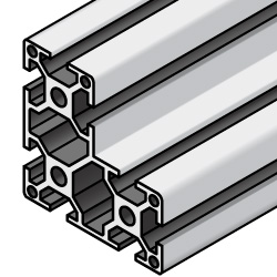 6 Series/slot width 8/60x60x30mm, Parallel Surfacing