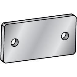 Flat Bars Mounting Plates/Brackets/B Dim. Selectable