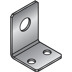 L Sheet Metal Mounting Plates/Brackets