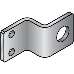 Sheet Metal Mounting Plates/Brackets/Z-Shaped