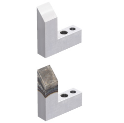 Locators (Horizontally Inclined) Two Dowel Holes and One Through Hole Type