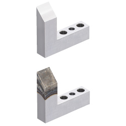 Locators (Horizontally Inclined) Two Dowel Holes and Two Through Holes Type