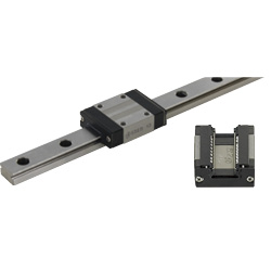 Miniature Linear Guides/Dirt Resistant Standard Blocks/Light Preload/Advanced Selectable L
