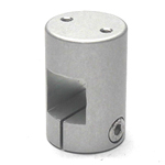 Square Pipe Joint Square, Threaded Type (2 Screws Perpendicular to the Shaft)