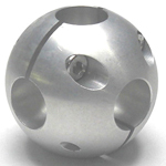 Round Pipe Joint Same Diameter Bore Type 6-Way Ball