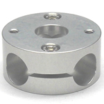 Round Pipe Joint Same Diameter Bore Type Horizontal 4-Way