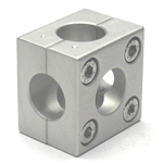 Round Pipe Joint Same Diameter Bore Type Split 5-Way Hole