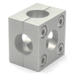 Round Pipe Joint Same Diameter Bore Type Split 6-Way Hole