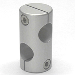Stainless Steel Round Hole Pipe Joint, 90° Cross Holes