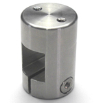Stainless Steel Square/Round Bore Pipe Joint, Square / Threaded Type (2 Screws Perpendicular to the Shaft)
