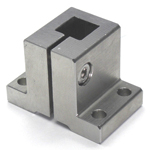 Stainless Steel Square/Round Bore Pipe Joint Vertical Square Type