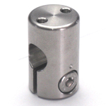 Stainless Steel Round Bore Pipe Joint with Screw Holes Machined