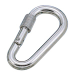 Pear Shaped Carabiner (with Ring)
