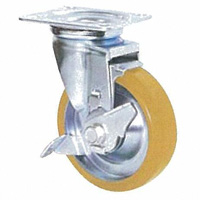 Anti-Static Caster STM Series with Swivel Stopper (Anti-Static Rubber Wheel)