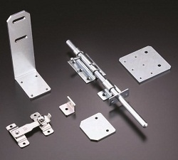 Lock and Stopper Parts for Safety Fence