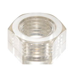PC (Polycarbonate) / Hex Nut Clear Color