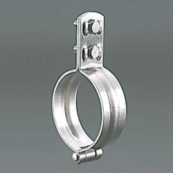 Vertical Pipe Fitting / Mounting Leg with Stainless Steel Hinge-Type Standing Band BN