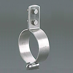 Standing Pipe Fixture / Mounting Leg, Stainless Steel TP Standing Band with BN