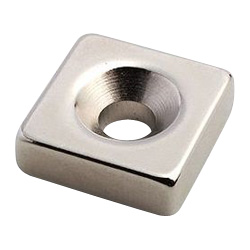 Neodymium Magnet, Countersunk Bolt Mounted Type, Square