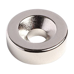 Neodymium Magnet, Countersunk Bolt Mounted Type, Round