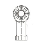Rod End Bearing, Right Female Thread, Metal Type 4 Piece PR