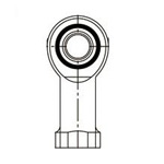 Rod End Bearing, Right Female Thread, Molded Type Minelon® TN RBM