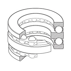 Double-Row Thrust Ball Bearing