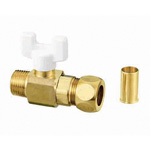 AJ Ball Valve, AJ2 Ring Joint, R Screws x Copper Tube Connection